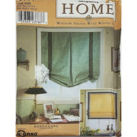 Shades With Woven Tape Simplicity 9117 Sewing Pattern Window Treatment c2121