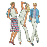Misses Top Skirt Pants Shorts Jacket Simplicity 9843 Sewing Pattern Sz 16 c2036