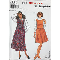 Misses Jumper Simplicity 7987 Sewing Pattern Vintage 1992 Size 8-14 c1950