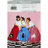 Misses Poodle Skirt Costume Butterick 4114 Vintage Sewing Pattern Size 6-12 c1935