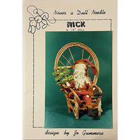 Nick Santa Claus Doll 14 in Vintage Pattern Never a Dull Needle Christmas c1977