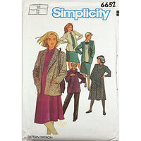 Miss Maternity Dress Pants Skirt Jacket Simplicity 6652 Sewing Pattern 12 c2014