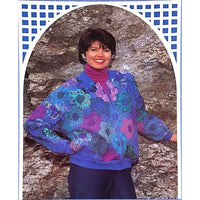 Flower Garden Jacket Patchwork Pattern Vintage 1992 Back Porch Size 8-22 c1986