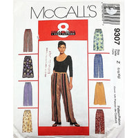 Misses Pants Skirt McCalls 9307 Sewing Pattern 1998 Sleepwear Size L c2129