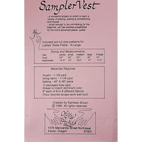 Sampler Vest Patchwork Pattern Vintage 1990 Of My Hands Size 6-20 c1984