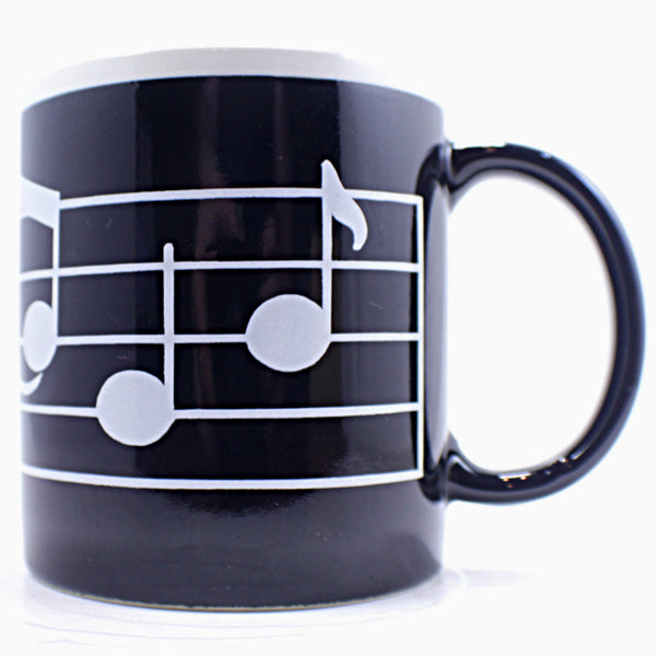 Music Notes Coffee Mug Black White Vintage Albert Kessler & Co Japan k478