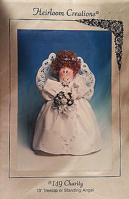 Charity Angel Treetop Pattern 13 inch Standing Doll Christmas Tree Holiday c167
