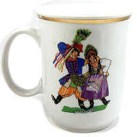 Krakowiak Dancers Coffee Mug Vintage 12oz Couple China Poland Gold Trim k545