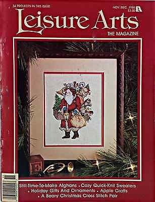 Winter Holiday Afghans Sweaters Ornaments Cross Stitch Leisure Arts 1986 c279