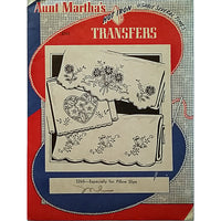 Especially for Pillow Slips Aunt Marthas 3265 Vintage Hot Iron Transfer am01
