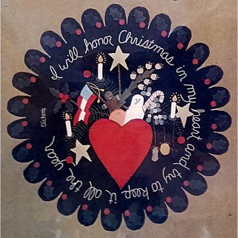 I Will Honor Christmas My Heart Quilt Pattern Holiday All Through ...