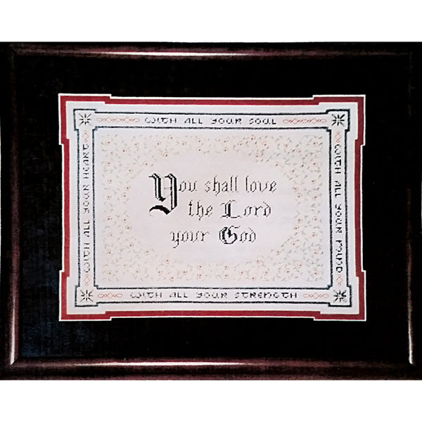 Commandment Counted Cross Stitch Kit 13 x 11 Vintage 1989 Connie Abel c1484