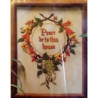 Peace Be to This House Embroidery Kit 12 x 16 Vintage 1981 Creative Circle c1500