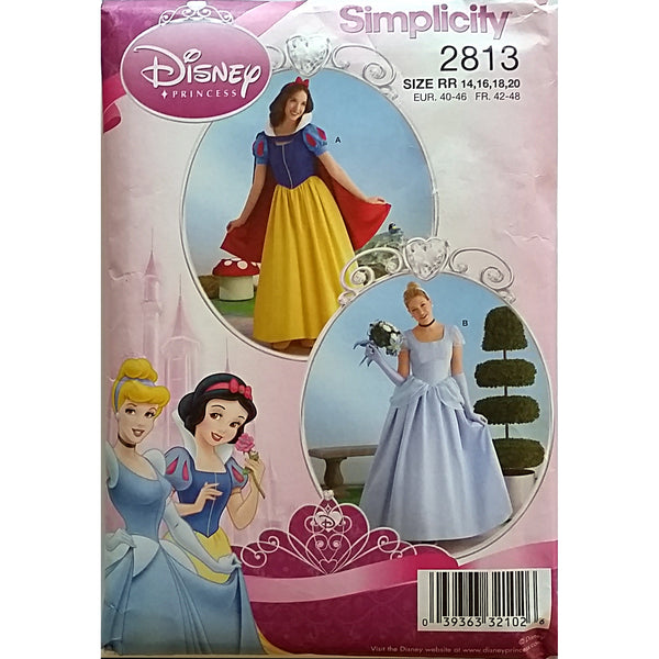 Misses Disney Princess Simplicity 2813 Pattern 2008 Size 14 16 18 20 c1508