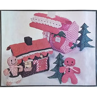 Gingerbread Strawberry House Soft Sculpture Pattern Vintage Sew Much Fun c1535