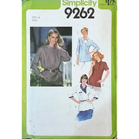 Misses Pullover Top Simplicity 9262 Vintage Sewing Pattern 1979 Size 14 c1573