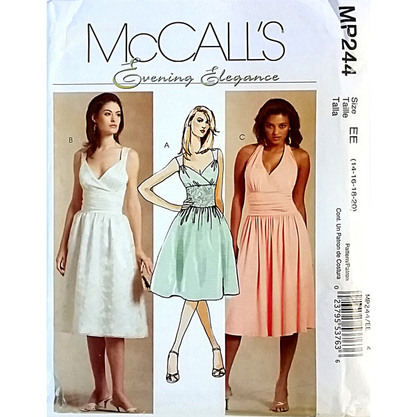 Misses Dress McCalls MP244 Pattern 2007 Size 14 16 18 20 Evening Elegance c1581