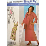 Womens Cropped Pants Dress Top Simplicity 4558 Sewing Pattern Size 18W c1605