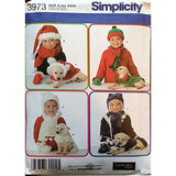Childs Dog Accessories Hat Scarf Simplicity 3973 Sewing Pattern S M L c1612