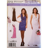 Misses Evening Dress Two Lengths Simplicity 2213 Sewing Pattern Size 12-20 c1637