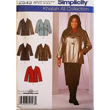 Misses Jacket Collar Variations Simplicity 2543 Sewing Pattern Size 10-18 c1644