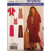 Misses Pants Skirt Dress Top Simplicity 2419 Sewing Pattern Size 10-18 c1645