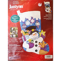 Frostys Ornaments Felt Stocking Kit Janlynn 18 inch Christmas 021-0997 c1663