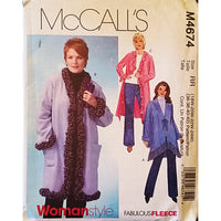 Womens Coats Three Lengths McCalls M4674 Sewing Pattern c1688