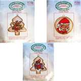 Reindeer Santa Bear Lot Counted Cross Stitch Kits Frames Santa's Workbench c1696