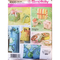 Fabric Gift Boxes Simplicity 4320 Vintage Sewing Pattern Shirley Botsford c1711