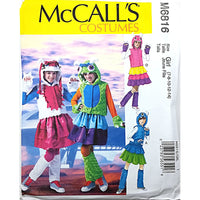 Girls Monster Costumes McCalls M6816 Sewing Pattern Size 7 8 10 12 14 c1741