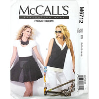 Misses Top and Wrap Skirt McCalls M6712 Sewing Pattern Fashion c1749