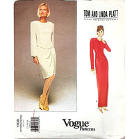 Misses Dress Vogue 1708 Pattern Designer Vtg Tom Linda Platt Size 12 14 16 c1757