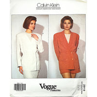 Misses Jacket Vogue 2919 Pattern 1992 Designer Calvin Klein 14 16 18 c1764