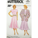 Misses Jacket Dress Butterick 4362 Sewing Pattern 1986 Size 8 10 12 c1804