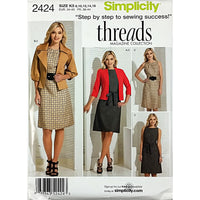 Misses Jacket Dress Cardigan Simplicity 2424 Sewing Pattern 2010 8-16 c1819