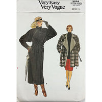 Misses Coat Vogue 9694 Sewing Pattern Vintage 1986 Size 8 10 12 c2152