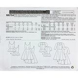 Misses Tops Dresses McCalls M6754 Sewing Pattern 2013 Knit Flared c2155