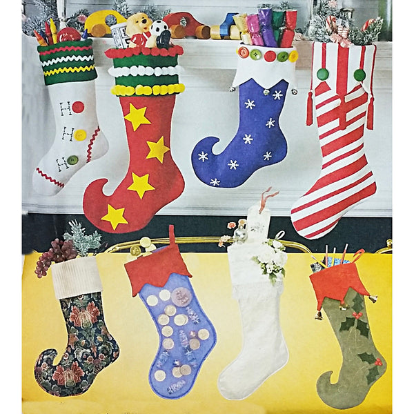 Christmas Stockings McCalls 2991 Sewing Pattern 2007 Holiday Decor c2165
