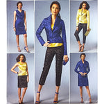 Miss Jacket Top Dress Skirt Pants Butterick B5995 Sewing Pattern Size 6-14 c2208