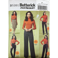 Misses Skirt Pants Butterick B5391 Sewing Pattern 2009 c2209