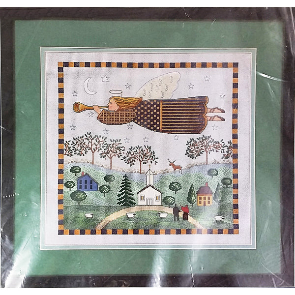 Peace in the Country Counted Cross Stitch Kit 12x12 Sunset 13618 Angel c2222