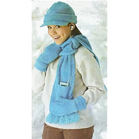 Girls Hat Scarves Mittens Simplicity 4311 Sewing Pattern Three Sizes c2233