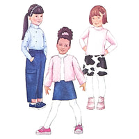 Girls Jacket Vest Top Skirt Pants Butterick 6785 Sewing Pattern Size 2-5 c2249