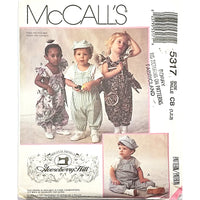 Toddlers Jumpsuits Hat McCalls 5317 Sewing Pattern Size 1 2 3 c2250
