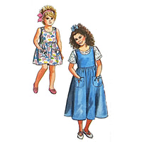 Girls Jumpsuit Sundress Top Simplicity 7184 Sewing Pattern Size 7-12 c2256