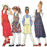 Girls Jumper Simplicity 9239 Sewing Pattern Vintage 1994 Size 12 14 c2257