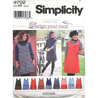 Girls Jumper Simplicity 9702 Sewing Pattern Vintage 1995 Size 12 14 c2258
