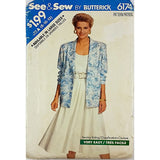 Misses Jacket Top Skirt Butterick 6174 Sewing Pattern Vintage Size 8-12 c2266