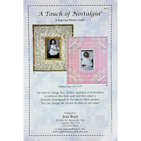 A Touch of Nostalgia Picture Quilt Pattern 11 x 13 Upper Canada Quiltworks c2272